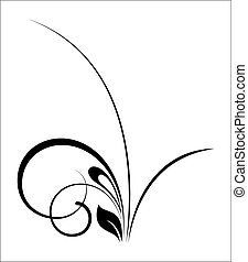 Black Swirl Shape