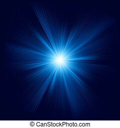 Blue color design with a burst. EPS 8