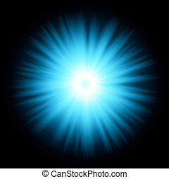 Blue color design with a burst. vector