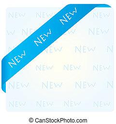 blue corner ribbon