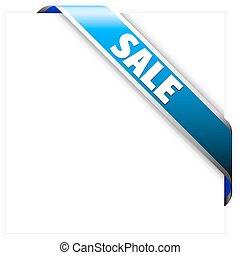 Blue corner sale ribbon