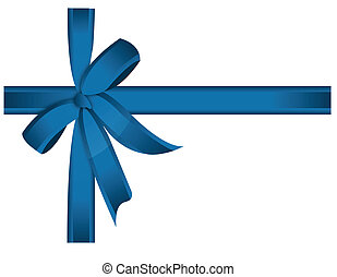 blue cross ribbon and bow