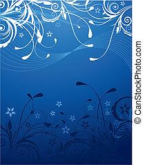 Blue Floral Background