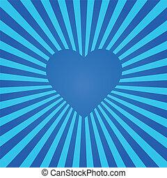 Blue Heart Sunburst