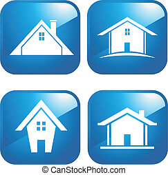 Blue Icon houses