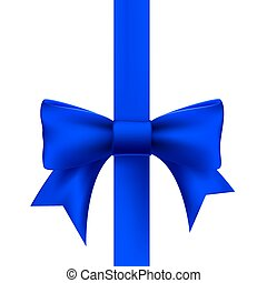 blue ribbon with a bow