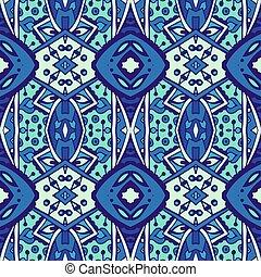 Blue seamless pattern tiles vector abstarct background