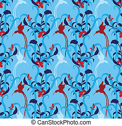 seamless texture humming-bird