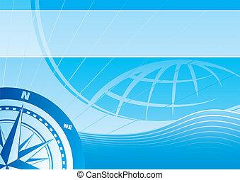 Blue travel background