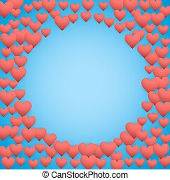 Blue Valentines day background