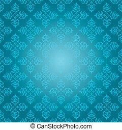 blue vintage pattern - vector background