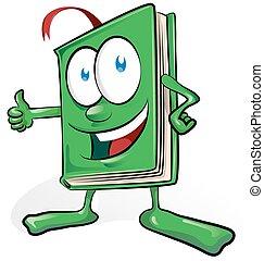 book cartoon isolated