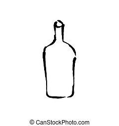 Bottle hand drawn