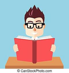 Boy read book