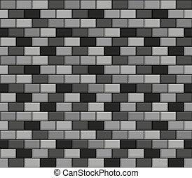 Brick wall seamless greyscale pattern