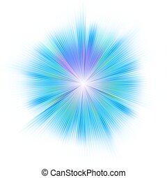 Bright blue star. EPS 8