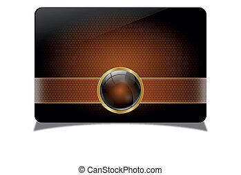 Brown vip card