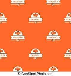 Buckle vintage pattern vector orange