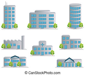 Building icons set. Architectures image