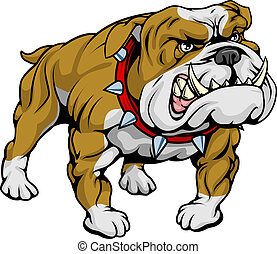Bulldog clipart illustration