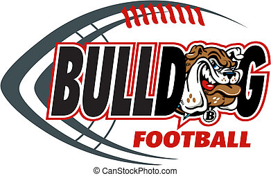 bulldog football with mascot head