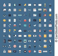 Business and finance flat icons big set