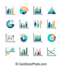 Business data market infographic elements