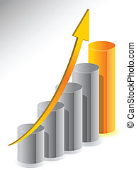 business growth illustration design