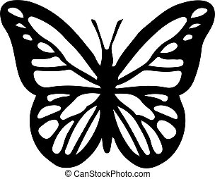 butterfly icon isolated on white background