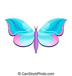 butterfly ion white background
