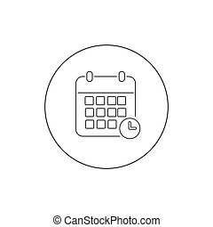 Calendar line icon vector illustration. Calendar symbol Flat