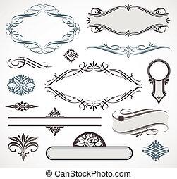 Calligraphic design elements & page