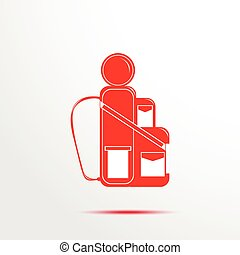 Camping backpack. Vector icon.