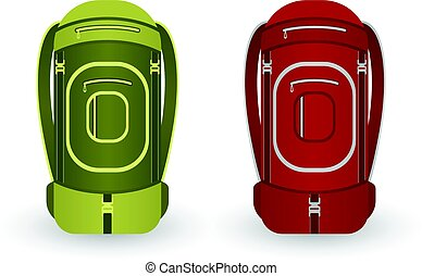 Camping backpack vector icon
