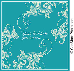 Card in Baroque style