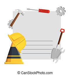 card with set construction tools