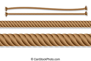 caricatures of braided rope over white background, vector illustration