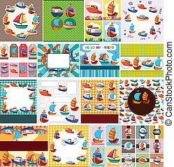 cartoon boat card