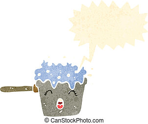 cartoon boiling water