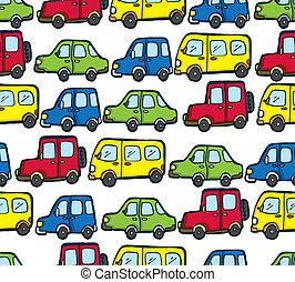 cartoon car pattern