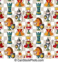 cartoon chess seamless pattern