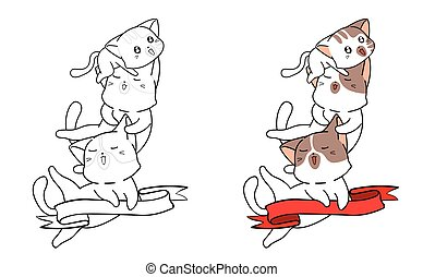 Cartoon coloring page for kids