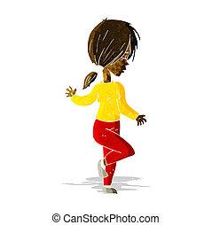 cartoon girl dancing