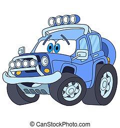 cartoon jeep car