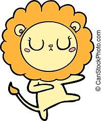 cartoon lion dancing