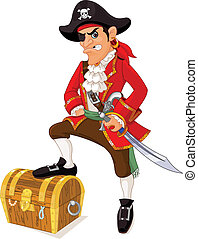 Illustration of cartoon pirate