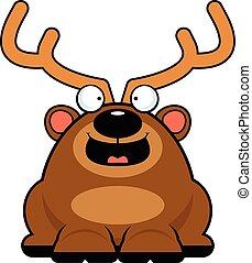 Cartoon Reindeer Happy