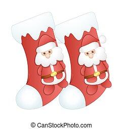 Cartoon Santa Claus Xmas Stocking