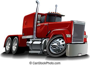 Cartoon semi truck