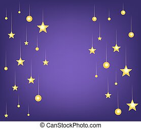 cartoon stars night background. vector illustration